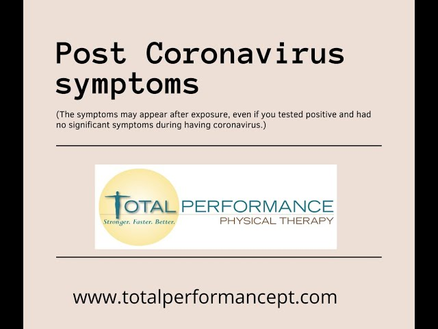 Post COVID symptoms