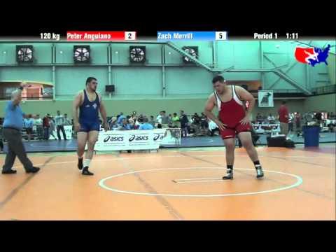 Peter Anguiano vs. Zach Merrill at 2013 ASICS University Nationals - FS