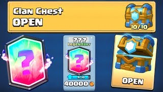 YES! I GOT THE LAST LEGENDARY :: Clash Royale :: TIER 10 ''CLAN CHEST'' OPENING!