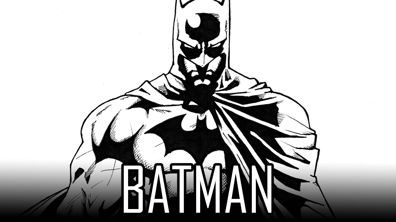 Draw Batman - How To Draw With Quick Simple Easy Steps For ...