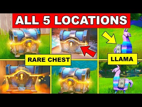 Search A Rare Chest Or Supply Llama – EASY LOCATION GUIDE Fortnite Cameo Vs Chic Challenges