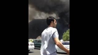 حريق عمارتين بالعزيزيه مكه المكرمه