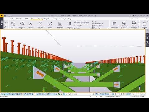 How to detail steel bridge in TEKLA STRUCTURES 2017