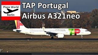 TAP Portugal Airbus A321neo landing at Berlin Tegel Airport