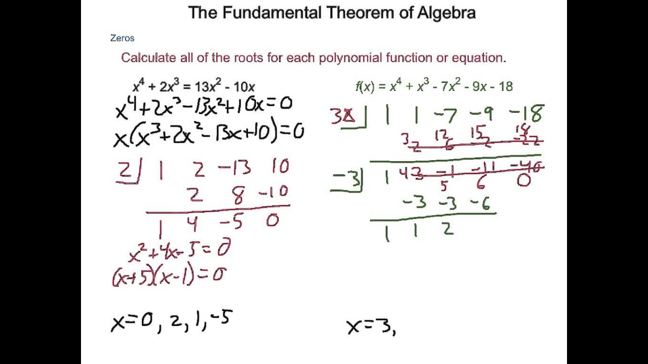 the fundamental theorem of algebra Supplement: fundamental theorem of algebra—history 1 supplement: the fundamental theorem of algebra—history note there a number of ways to state the fundamental theorem of algebra.