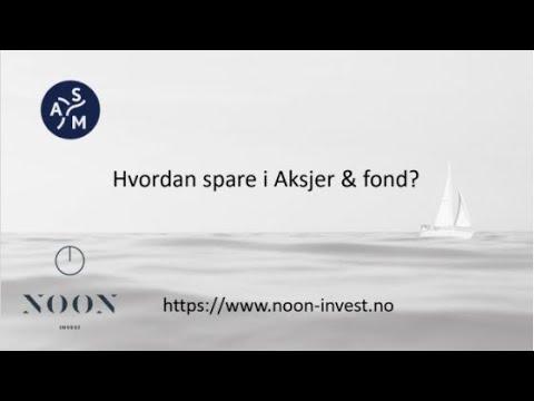 Webinar - Hvordan spare i Aksjer & fond?
