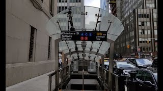 MTA NYC Subway: Train Tour @ Park Place/Chambers Street-World Trade Center/Cortlandt Street