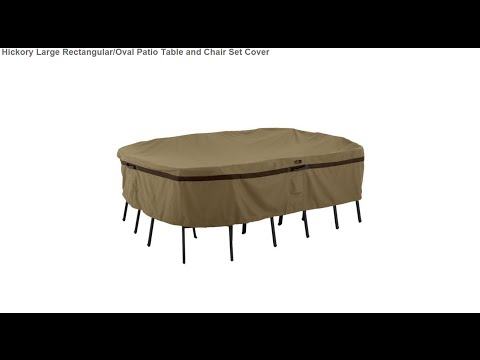 Hickory Large Rectangular/Oval Patio Table and Chair Set Cover