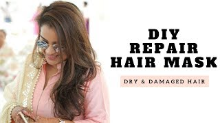 DIY Repair Hair Mask For Dry and Damaged Hair | Aarushi Jain