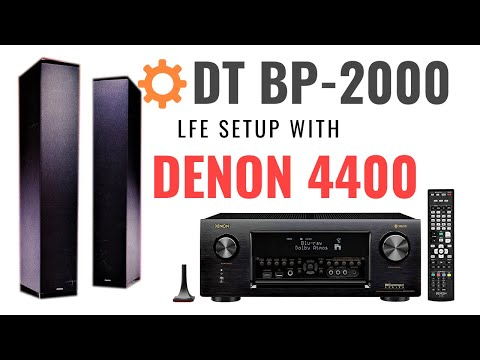 Definitive Technology BP-2000 LFE Setup with Denon AVR-X4400H / AVR-X4500H !!!