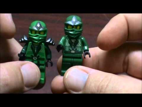 Lego Custom Green Ninja vs. The Real Lloyd ZX Review ...