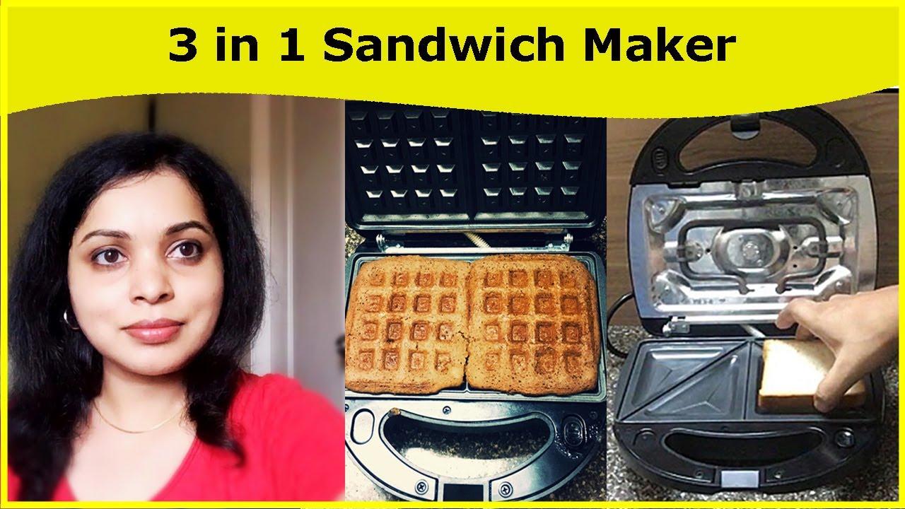 Croma Sandwich Maker 3 In 1 Waffle Grill Best Sandwich Maker In India Sandwich Maker Detachable Youtube