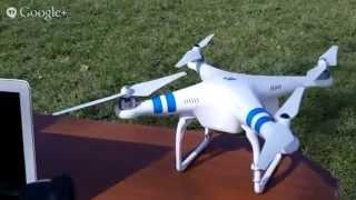 DJI Phantom 2 erste Flugversuche mit der Livedrohne