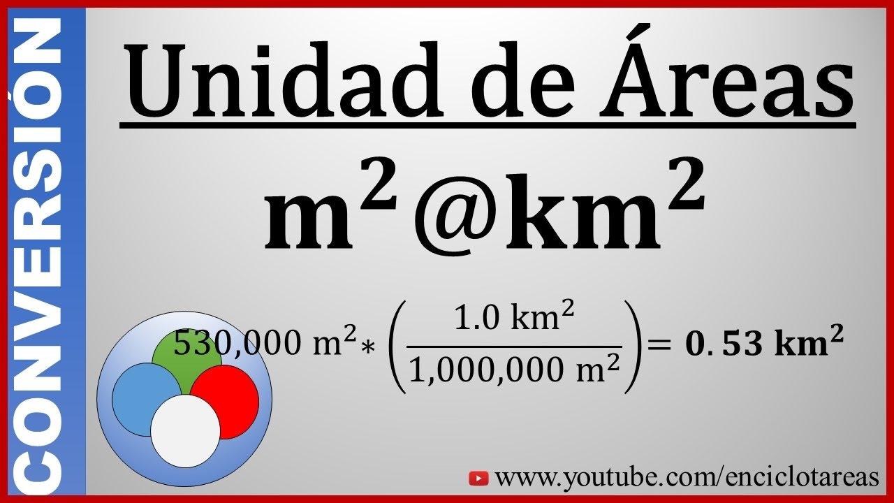 Convertir de metros cuadrados a kilometros cuadrados m2 a km2 youtube - Pasar de metros a metros cuadrados ...