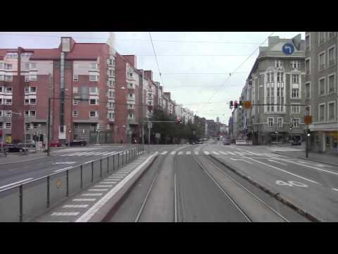 Helsinki Tramways Route 6 Helsinki Central to Arabianranta