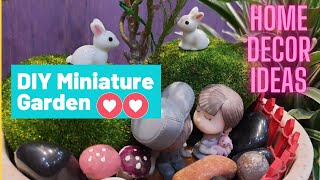 In this video I am going to show you how to make and decorate simple miniature garden with very few items.It looks good anywhere in your house. Try it yourself ...