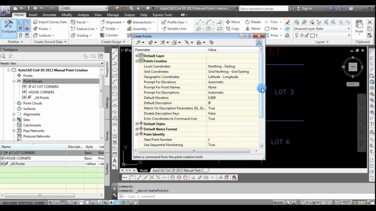 autocad civil 3d 2013 manual point creation youtube rh youtube com civil 3d 2012 manual pdf civil 3d 2012 tutorial