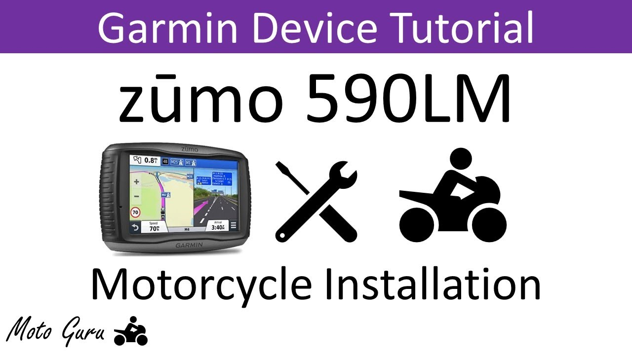 garmin zumo 590lm motorcycle installation [ 1280 x 720 Pixel ]