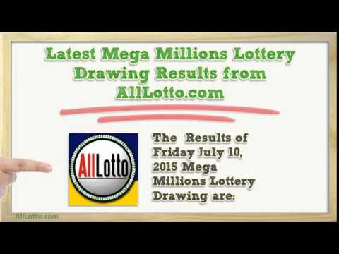Mega Millions Lottery Drawing Results for July 10, 2015 ...
