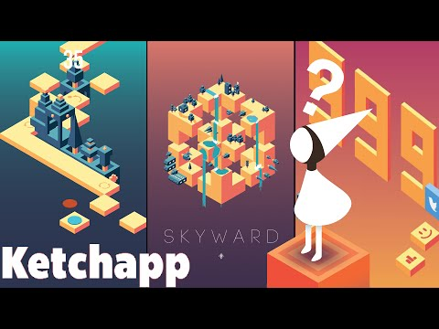 SKYWARD by Ketchapp Review | Monument Valley, Escher & A High Score | iOS Gameplay (Android, iPhone)