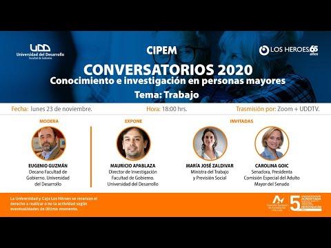 Conversatorio: Conocimiento e investigación en personas mayores | Tema: Trabajo