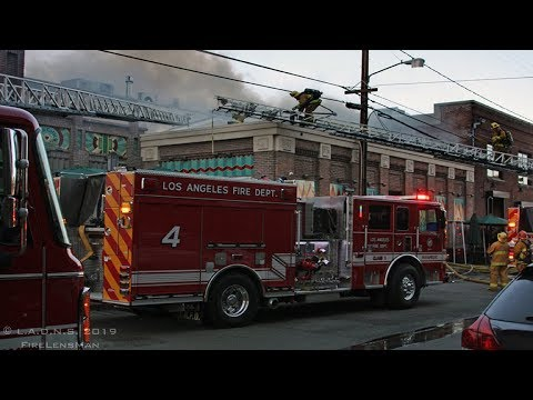 LAFD / Urth Caffe Fire / L.A. Art's District / Greater Alarm Fire