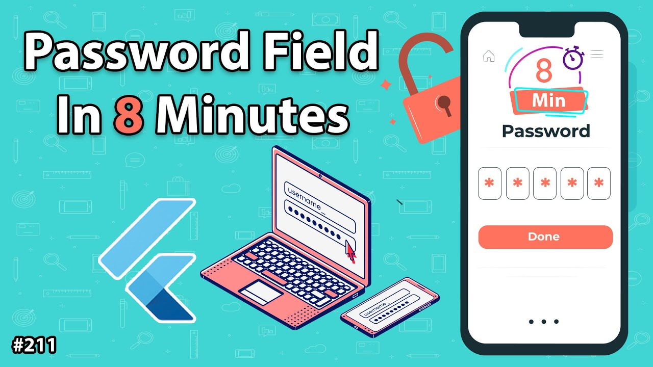 Flutter Tutorial - Password Field In 8 Minutes - Toggle Password Visibility