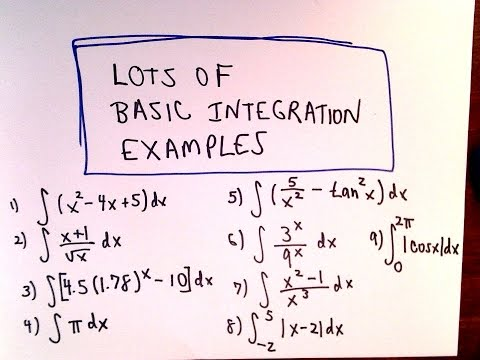 Lots of Basic Antiderivative  Integration  Integral Examples