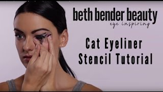 Cat Eye Makeup Stencil Tutorial (Cat Eyeliner) | Beth Bender Beauty Thumbnail