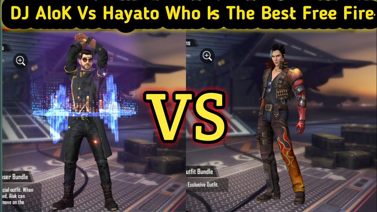 Dj Alok Vs Hayato Who Is The Best Character In Free Fire Top 2 Character Dj Alok And Hayato Youtube
