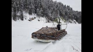 Аэролодка Берег 35 Рыбалка на реке Зимой