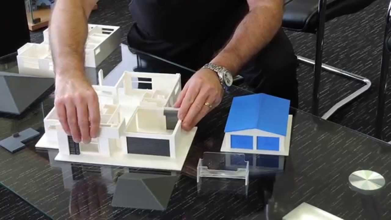 3d Printed Model House Youtube