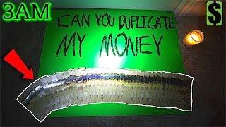 (INSANE) Ghost Paper Challenge Spirit DUPLICATES my Money at 3AM!! **IM RICH**