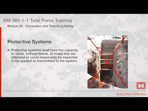 NAVFAC Safety Training Module 25: Excavation & Trenching