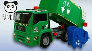 ⭕ Müllauto Dickie - Spielzeug ausgepackt und angespielt - Pandido TV