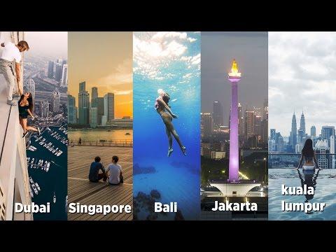 Dubai, kuala lumpur, Singapore, Jakarta, & Bali. 2 weeks | GoPro | feiyu g4