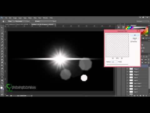 How To Create Own Lens Flare  Photoshop Tutorial
