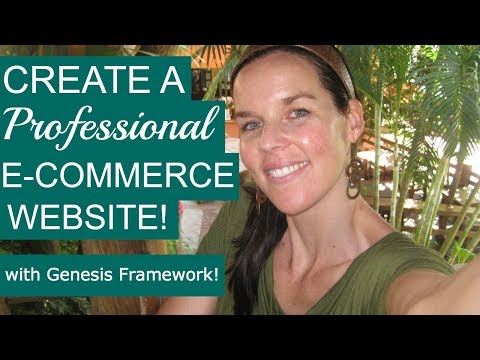 How To Make A WordPress Website With E-Commerce (Genesis Outreach Pro) - 동영상