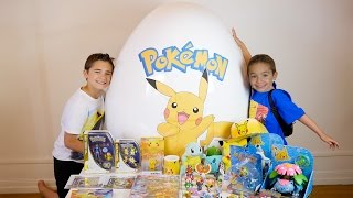 OEUF Surprise GÉANT POKEMON pour la sortie de Pokémon Go - Unboxing Super Giant Egg Surprise Pokemon streaming