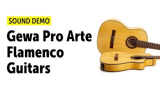 Gewa Pro Arte Flamenco Guitars - Sound Demo (no talking)