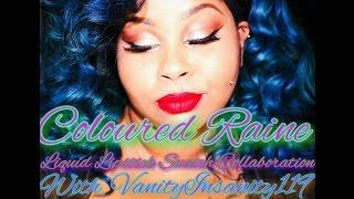 Coloured Raine Liquid Lipstick Swatch Collabo W/ VanityInsanity119 #Paintedlipsproject