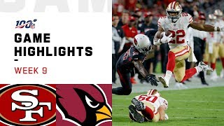 49ers vs. Cardinals Week 9 Highlights | NFL 2019
