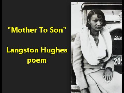 """Mother to Son"" Langston Hughes famous Harlem Renaissance poem = female voice"