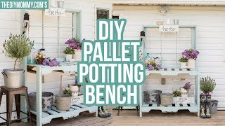 How to Build a Potting Bench from Pallets | Outdoor DIY & Decor Challenge!