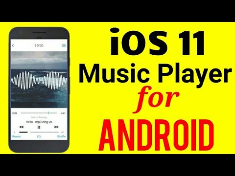 iOS11 Music Player For Android || iPhone Music Player Android - YouTube