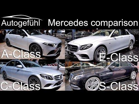 Mercedes A-Class vs C-Class vs E-Class vs S-Class sedan comparison