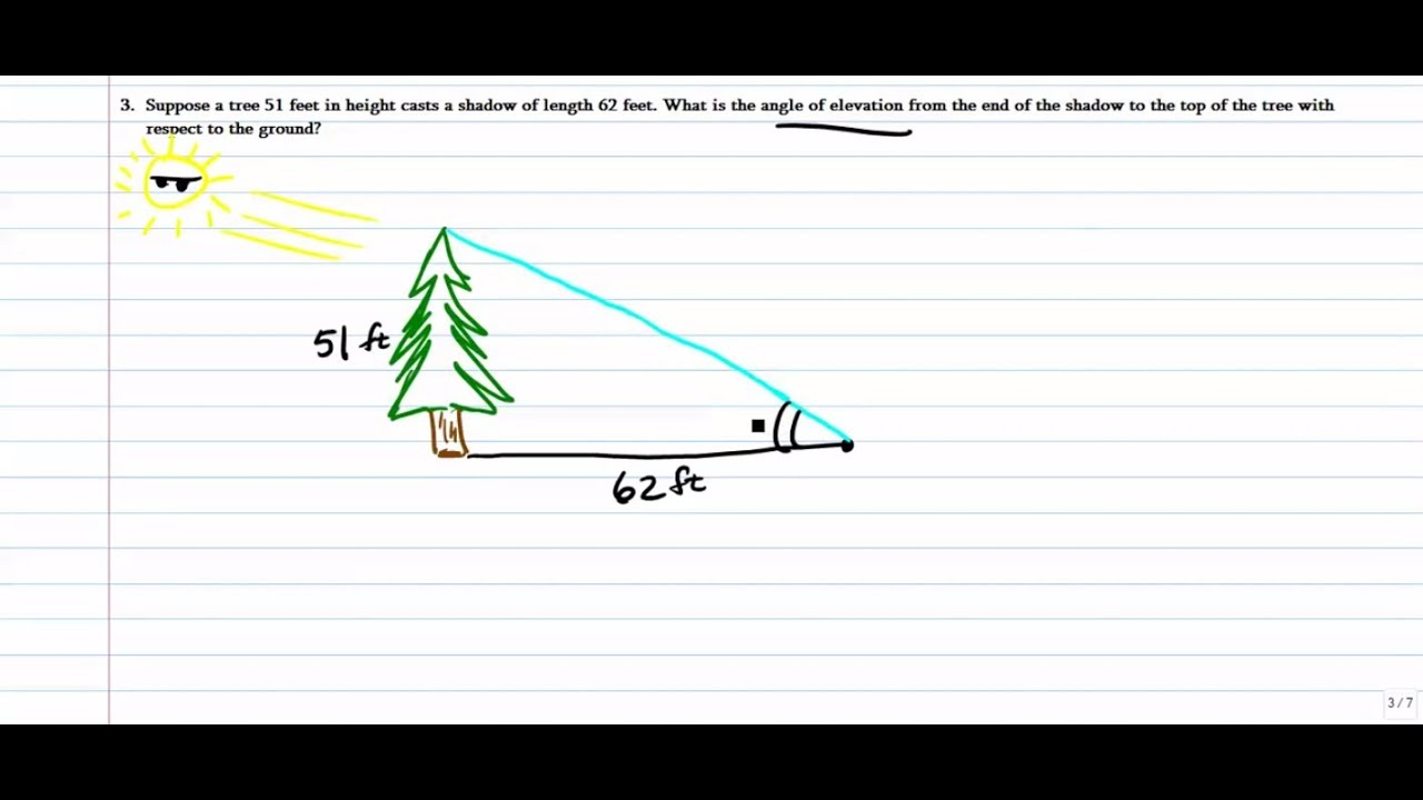 Trigonometry In Real Life (Right Triangle Trig only: SOH