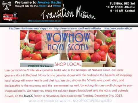 SHOP LOCAL - Natures Cove on Transition Mission - Awake Radio