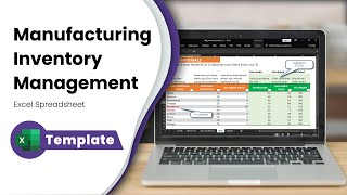 Free Inventory Management In Excel For Manufacturing Businesses - Inventory Spreadsheet