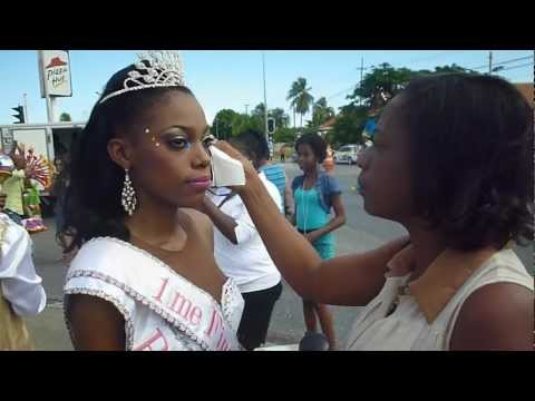 Ruënna's emotions flow after starting Curaçao's 43rd Grand Carnival Parade.